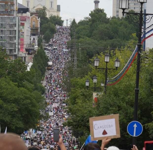 Почему в Хабаровске не разгоняют граждан