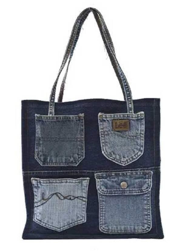 Где можно применить карманы от старых джинсов
