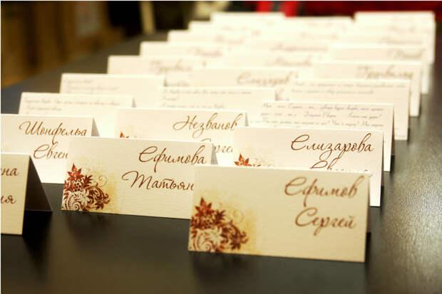 Где заказать красивые свадебные визитки для приглашения гостей?