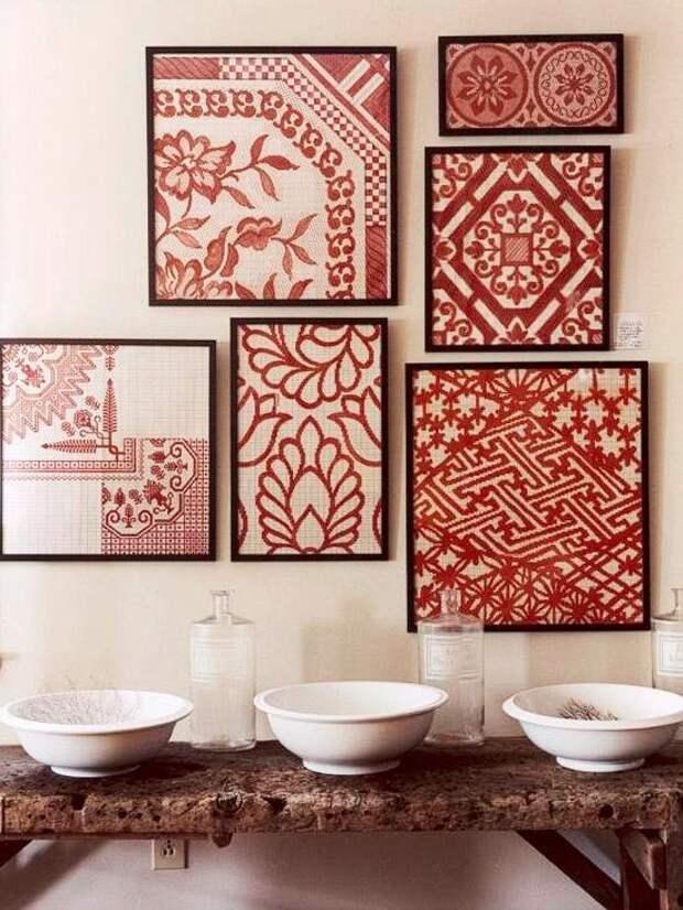 Ткань как декор стен