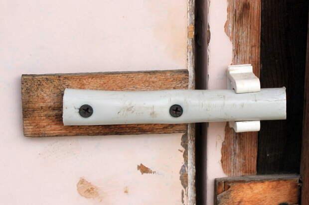 Маленькие хитрости от внука #3. Защёлка. Строительство и ремонт, Защелка, Труба, Дверь, Свой дом