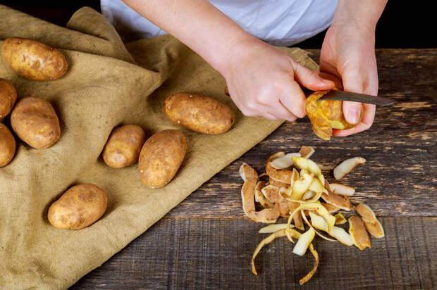 Не нужно идти на жертвы ради красоты, просто не выбрасывать картофельные очистки. /Фото: ocdn.eu