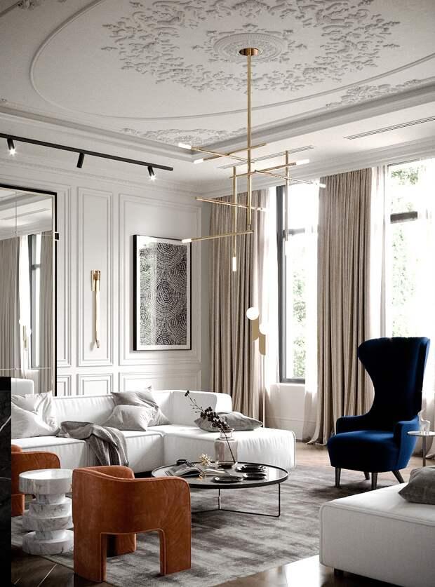 Способы освежить интерьер комнаты в классическом стиле