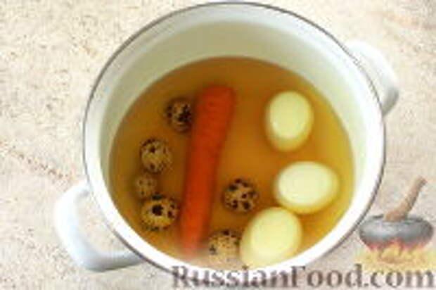 """Фото приготовления рецепта: Салат """"Ласточкино гнездо"""" - шаг №2"""
