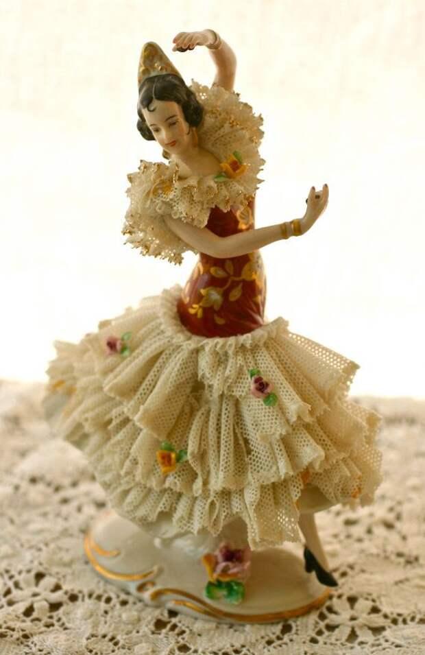 Stunning Dresden Art Frankenthal Flamenco Dancer