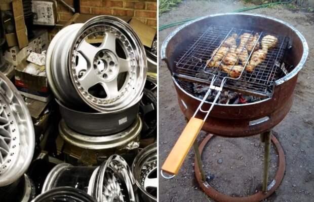 Как креативно использовать колесные диски вместо того, чтобы отправить их на свалку