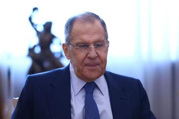 Russia's Foreign Minister Sergey Lavrov attends a meeting with Lebanese Prime Minister designate Saad al-Hariri in Moscow, Russia April 16, 2021. Russian Foreign Ministry/Handout via REUTERS