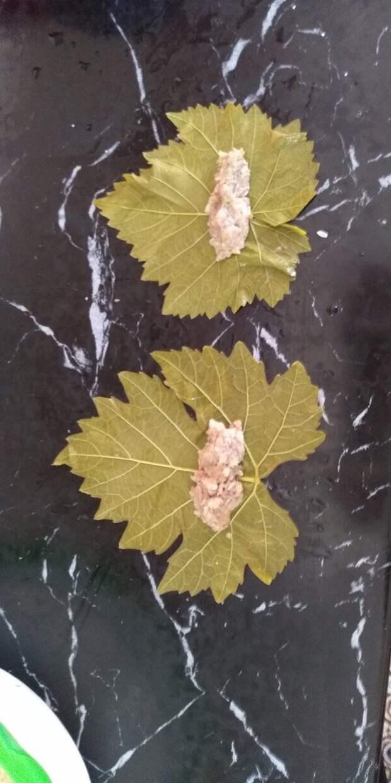 Долма из виноградных листьев по узбекски.