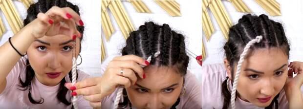 Без вреда для волос, сенегальские косички или дреды своими руками из пряжи