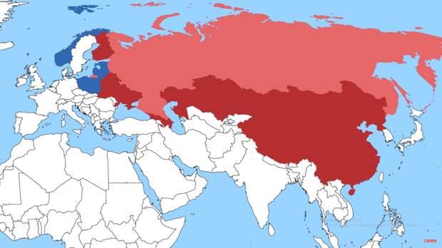 Страны с которыми граничит Россия.