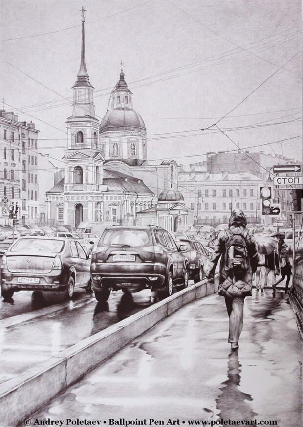 Фотореалистичная живопись шариковой ручкой от Андрея Полетаева - 1 7
