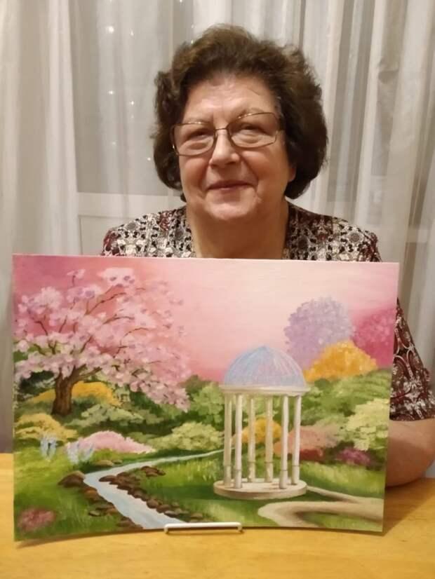 Пенсионеры из Лосинки достигли первых успехов в живописи