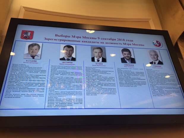 Сергей Собянин объявил о своей победе на выборах мэра Москвы