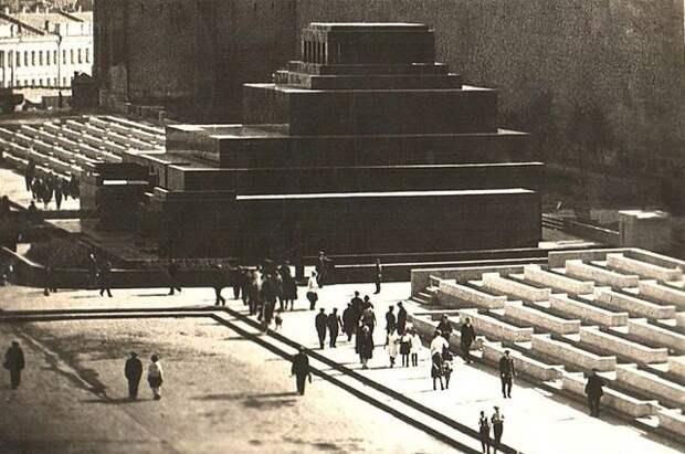 Мавзолей и Красная площадь, 1936 год.