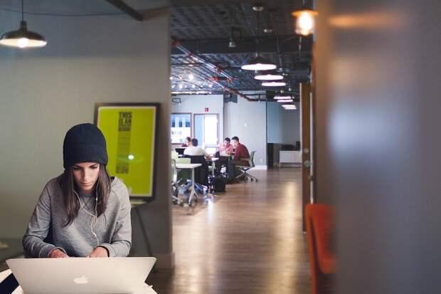 Женщина, Ноутбук, Коворкинг, Предприниматель, Девочка