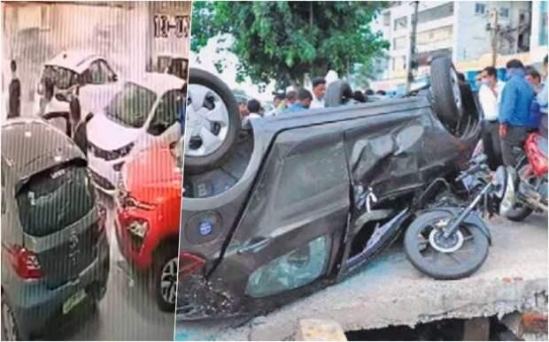 Покупатель растерялся и «выпрыгнул» на автомобиле из автосалона