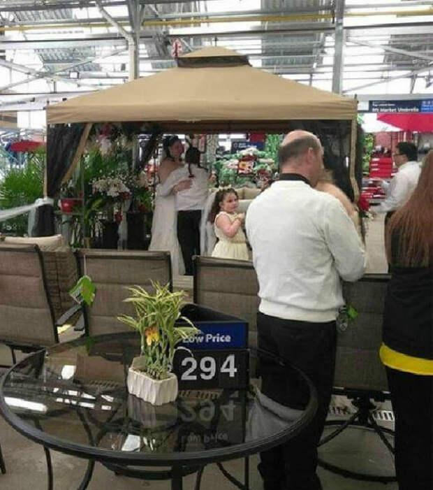 Свадьба в отделе «Все для сада». | Фото: NTV.