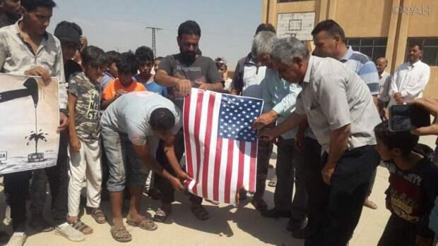 Жители сирийской Хасаки выступили против оккупации США и Турции