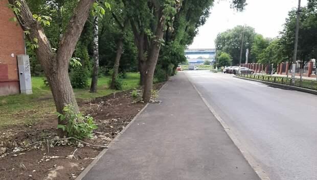 Пешеходную дорожку в одном из дворов отремонтировали по просьбе подольчанина