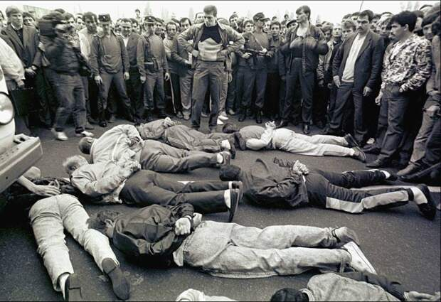 Задержания членов киевских преступных группировок. 90-е.