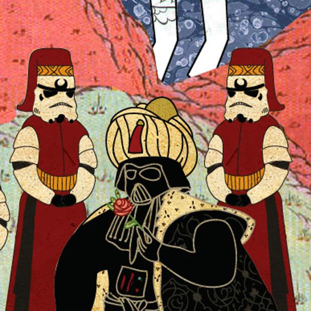 Сюжеты известных фильмов в стиле турецкой миниатюры
