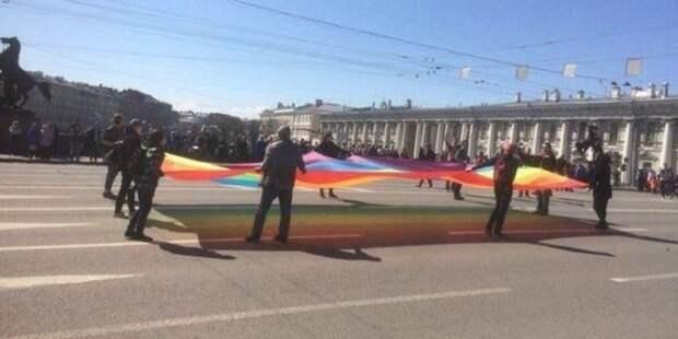 Полиция Петербурга остановила драку веганов с ЛГБТ-активистами