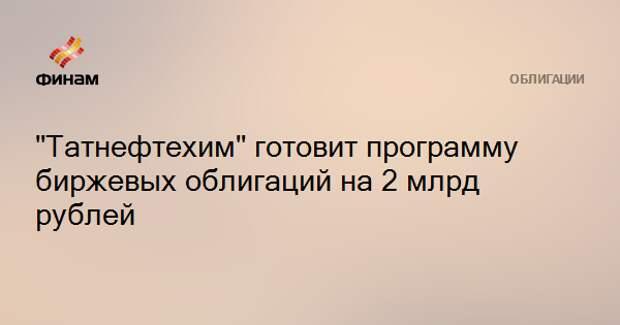 """""""Татнефтехим"""" готовит программу биржевых облигаций на 2 млрд рублей"""