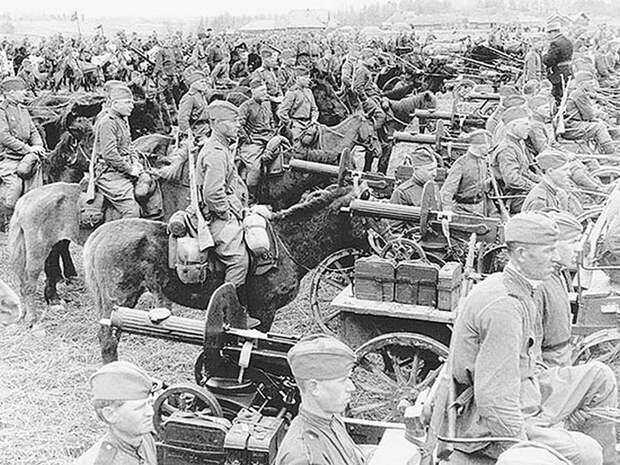 Кавалеристы - пулеметчики СССР, война, история