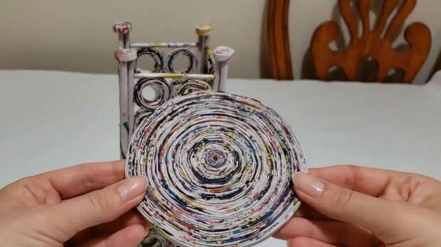 Простая идея из газетных трубочек точно вдохновит вас на творчество