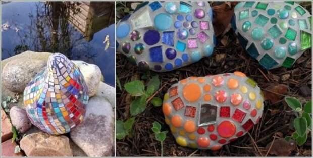 Идеи создания садовой мозаики