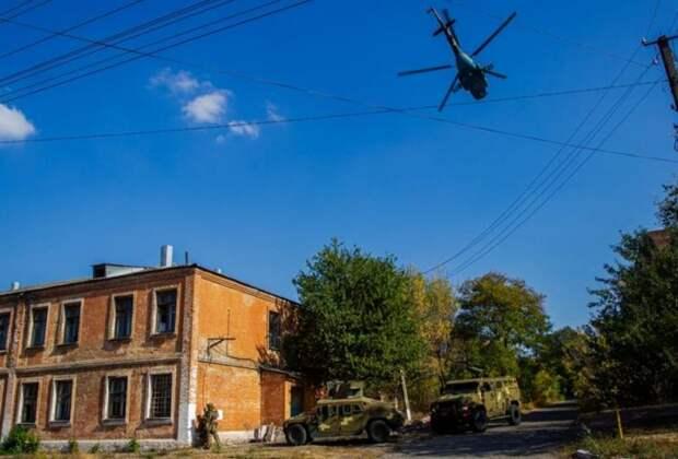 БТРы, вертолёты и Humvee: Нацгвардия Украины показала «противодиверсионные» тренировки в Славянске