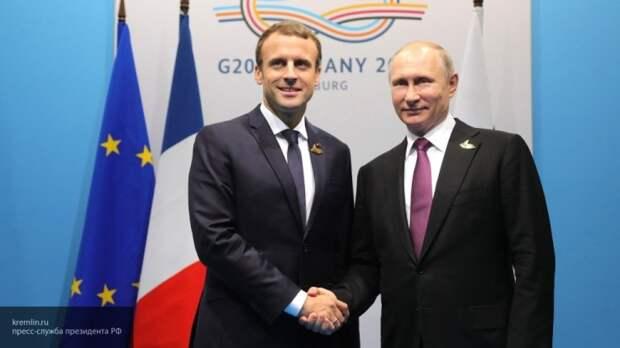 Путин и Макрон обсудили выход США из иранской ядерной сделки