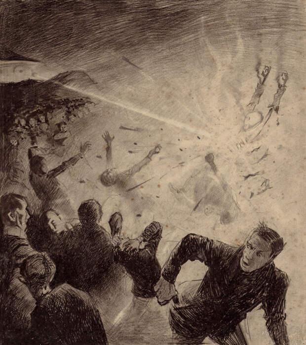 Атака марсиан Герберт Уэллс, война миров, иллюстрации, история