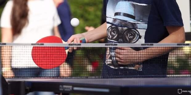 В центре «Шире круг» открыли набор в бесплатную секцию настольного тенниса