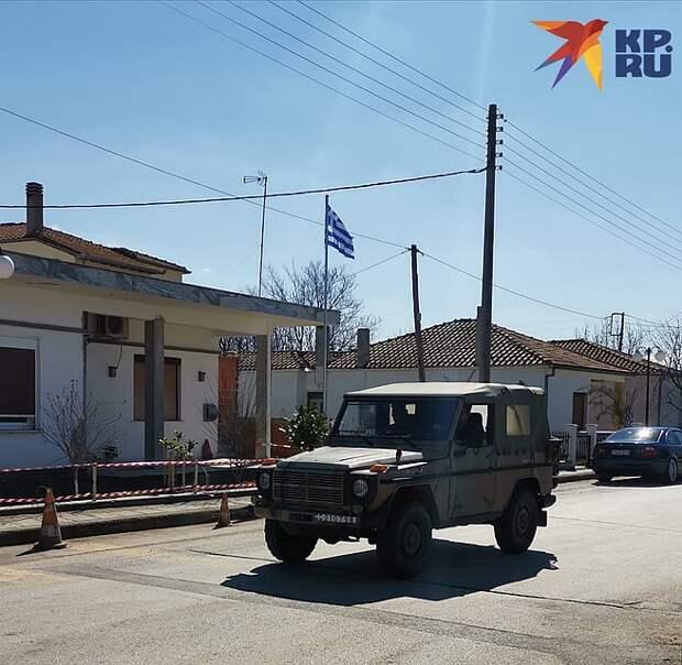 Кастаниес. Греко-турецкая граница на замке Фото: Дарья АСЛАМОВА