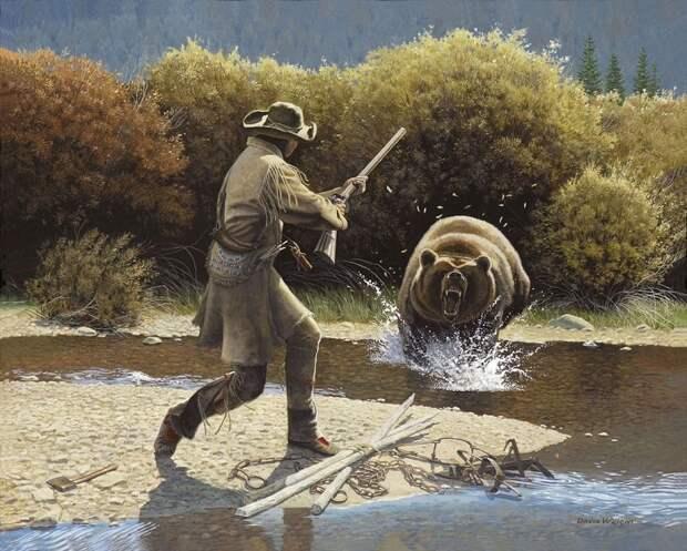 Реальная история Хью Гласса - человека, который сумел выжить в схватке с медведем