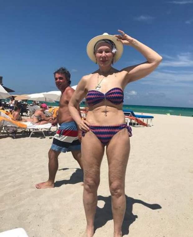 Обнажённая 71-летняя Татьяна Васильева сделала на пряже фото в бикини