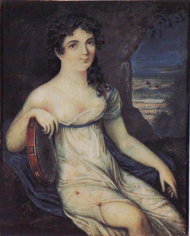 русская балерина Авдотья (Евдокия) Ильинична Истомина. портрет