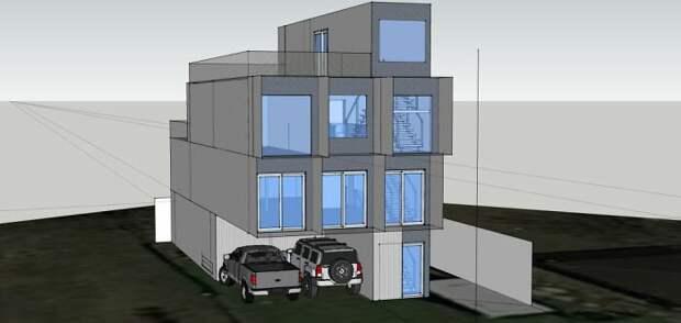 Бро мечтал построить дом с начала 2000-х, но никак не мог найти проектировщика, поэтому взял дело в свои руки