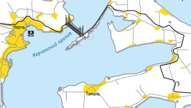 На строительство моста в Крым отправят местных безработных
