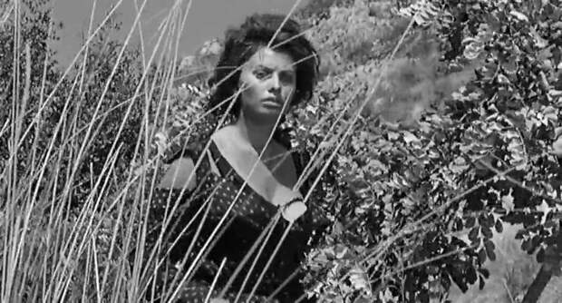 """Софи Лорен и Жан-Поль Бельмондо в фильме """"Чочара"""" (1960)."""