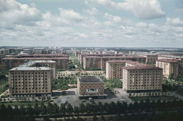 Район Юго-Западный в Москве. 1966 год.