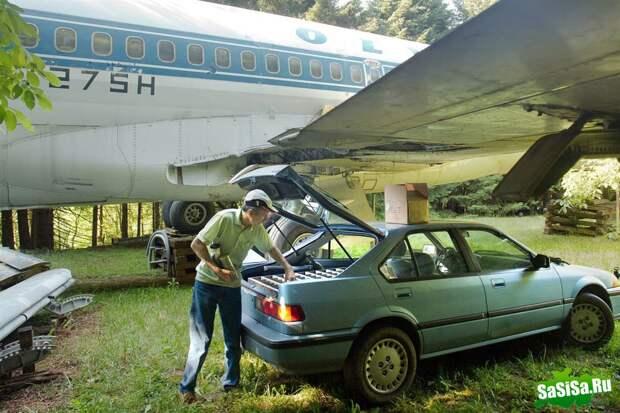 Самолет, превращенный в жилой дом (10 фото)