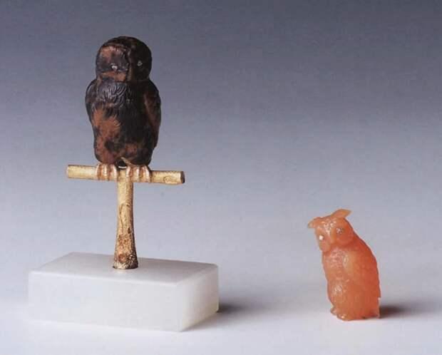 Камнерезные фигурки птиц фирмы Фаберже из королевской коллекции, фото № 9