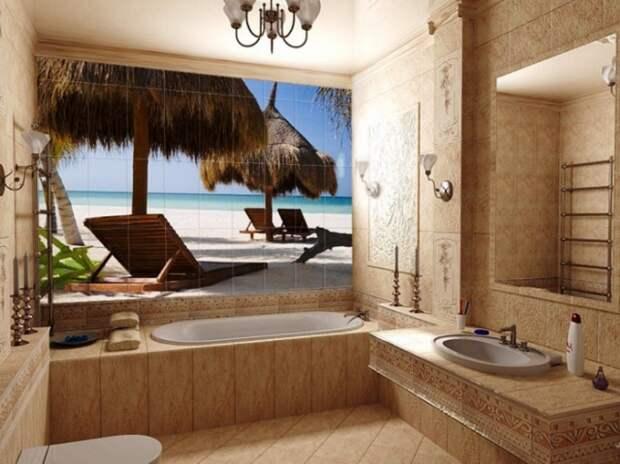 ЭКО-стиль в интерьере ванной комнаты