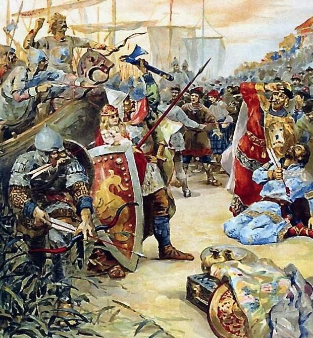 882 г. Олег Вещий захватил Киев, убил Аскольда и Дира