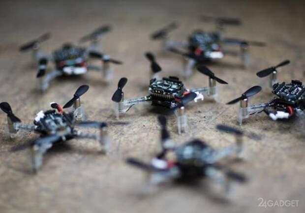 Создан алгоритм предотвращающий столкновения в рое дронов