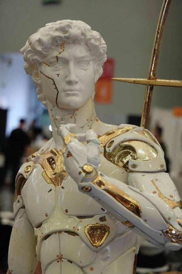 Известные скульптуры в жанре киберпанк от Jianhao Chen