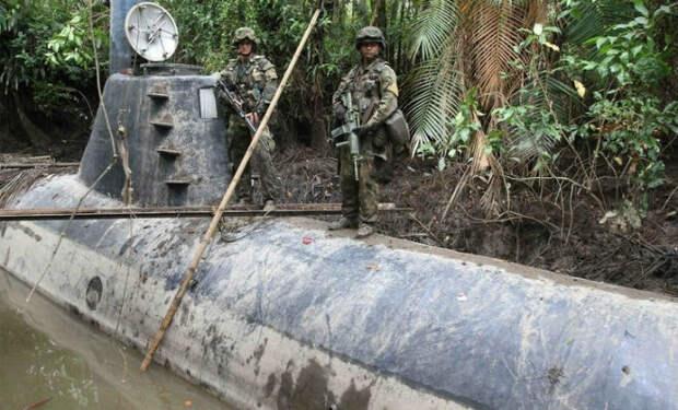 Самодельные субмарины картелей: сделаны ручным сварочным аппаратом и хранятся в джунглях