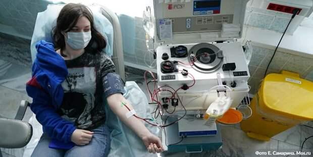 В Москве увеличено число пунктов сдачи плазмы с антителами к COVID-19. Фото: Е. Самарин mos.ru